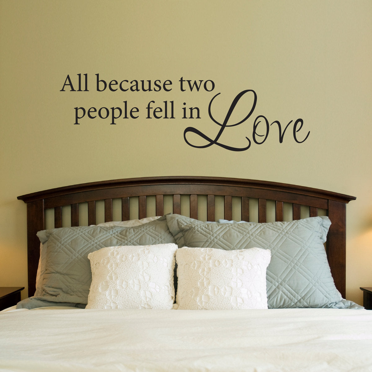All Because Two People Fell In Love Decal Love Wall Sticker