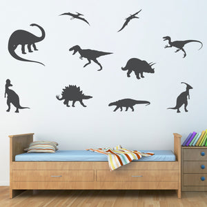 Set of 10 Extra Large Dinosaur Wall Decals