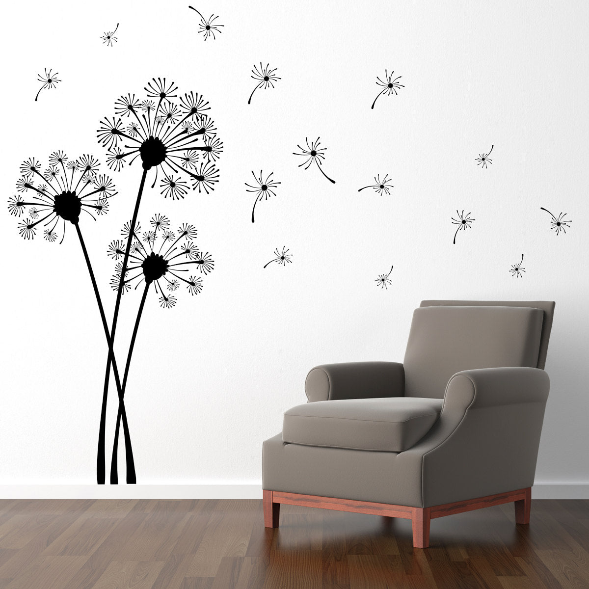 Dandelion Wall Decal - Flower Decor - Dandelion Wall Sticker - Extra Large : white dandelion wall decal - www.pureclipart.com