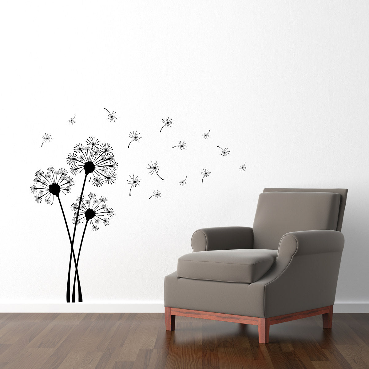 Exceptional Dandelion Wall Decal Set   Dandelions Blowing In The Wind   Dandelion  Flower And Seeds Wall Sticker   Medium Decal