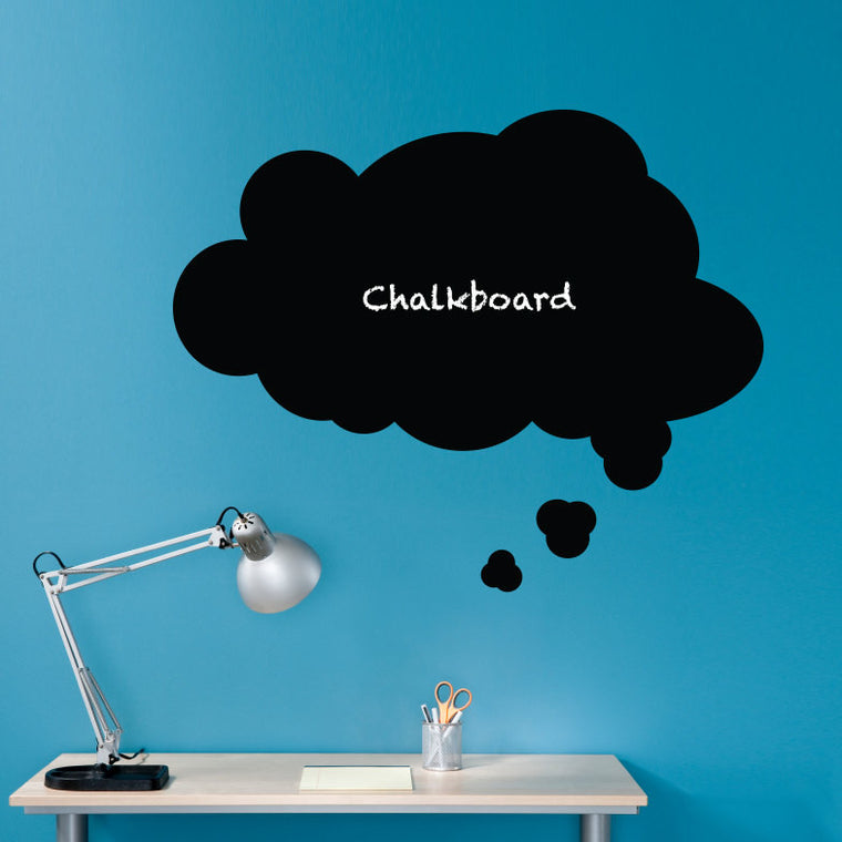 Thought Bubble Chalkboard Wall Decal - Speech Bubble