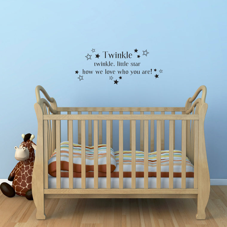 Twinkle twinkle Wall Sticker - Twinkle twinkle little star how we love who you are - Children Wall Decal - Medium