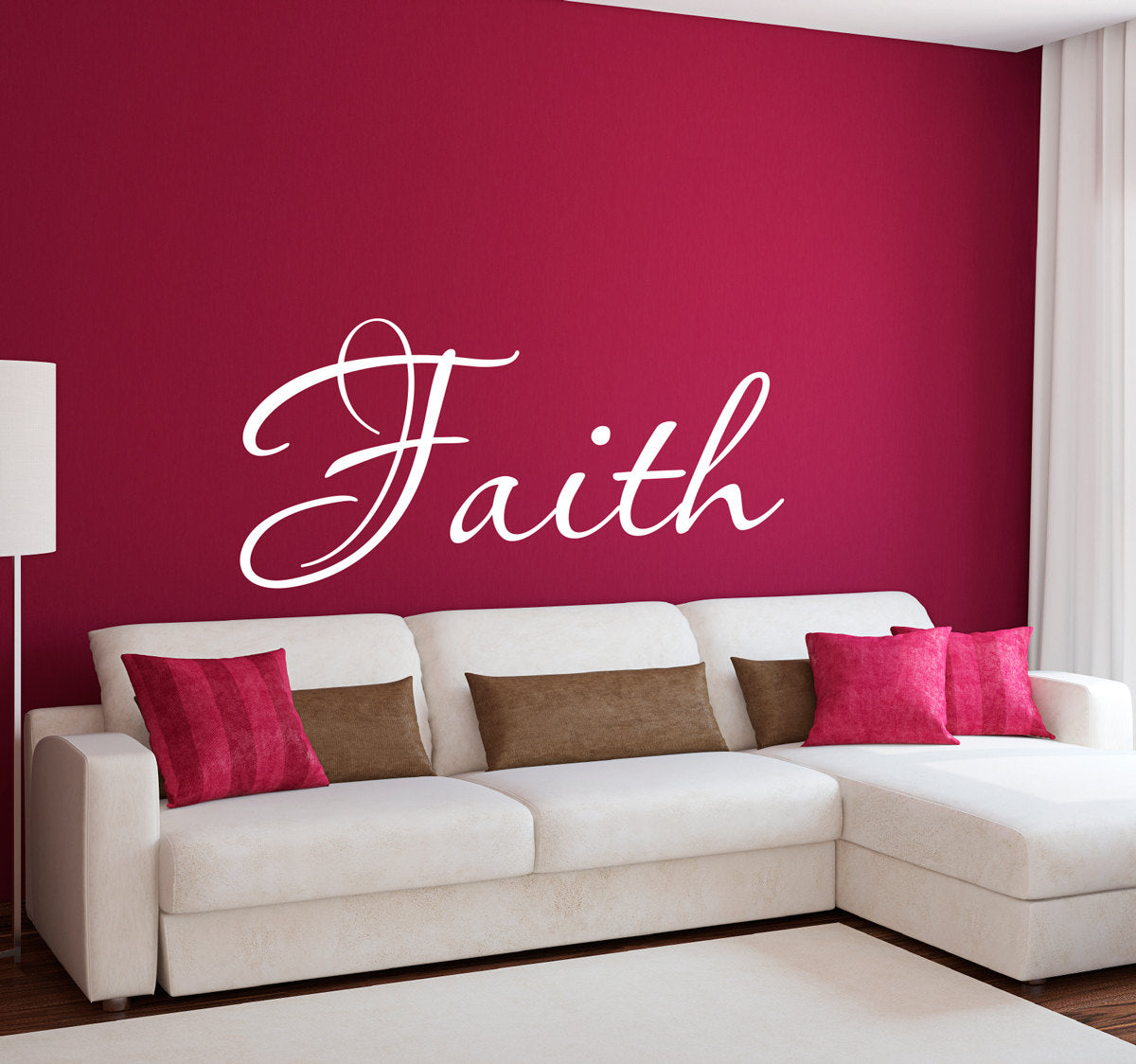 Faith Script Large Christian Wall Decal ...