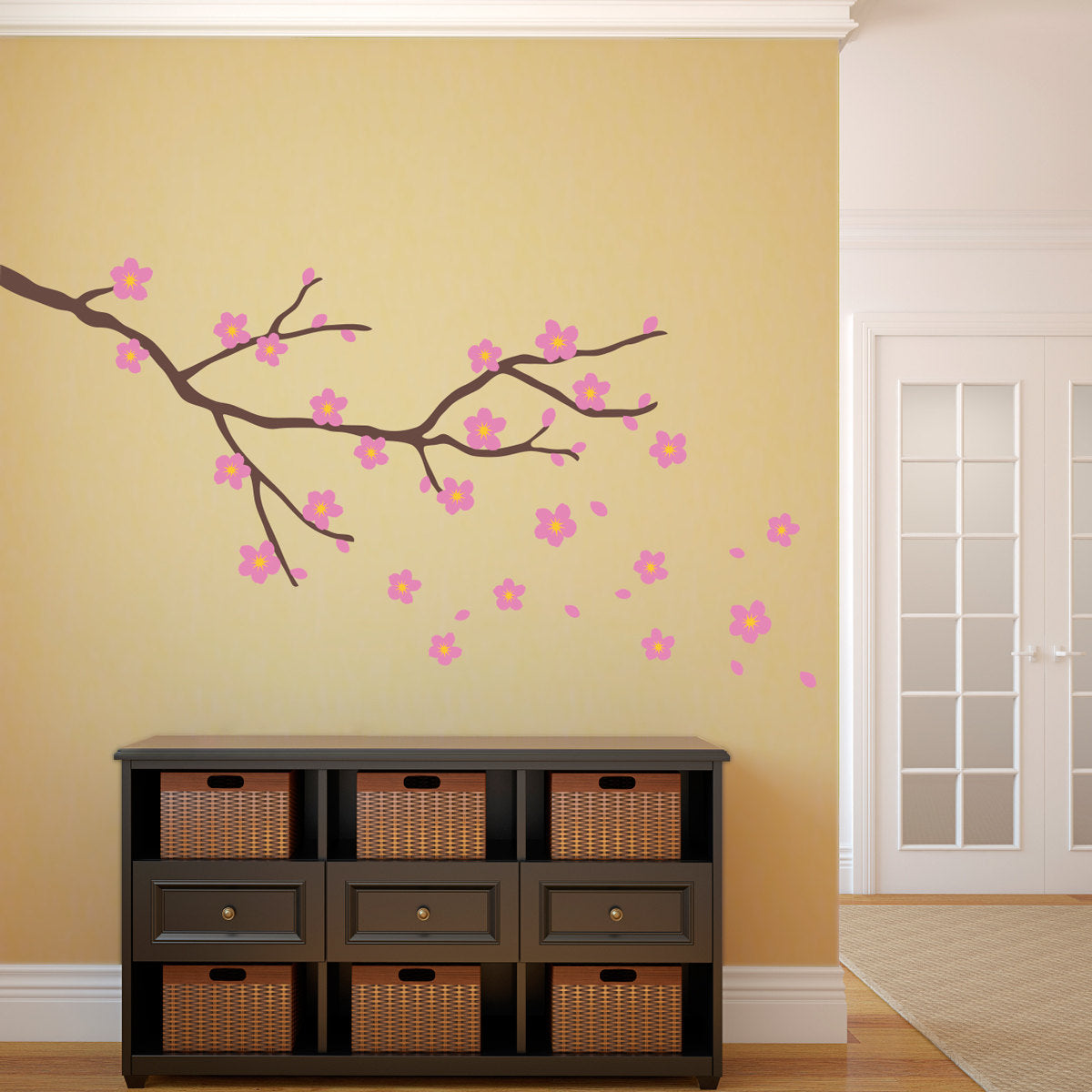 Cherry Blossom Decal - Branch with flowers wall Art - Flower Decor ...