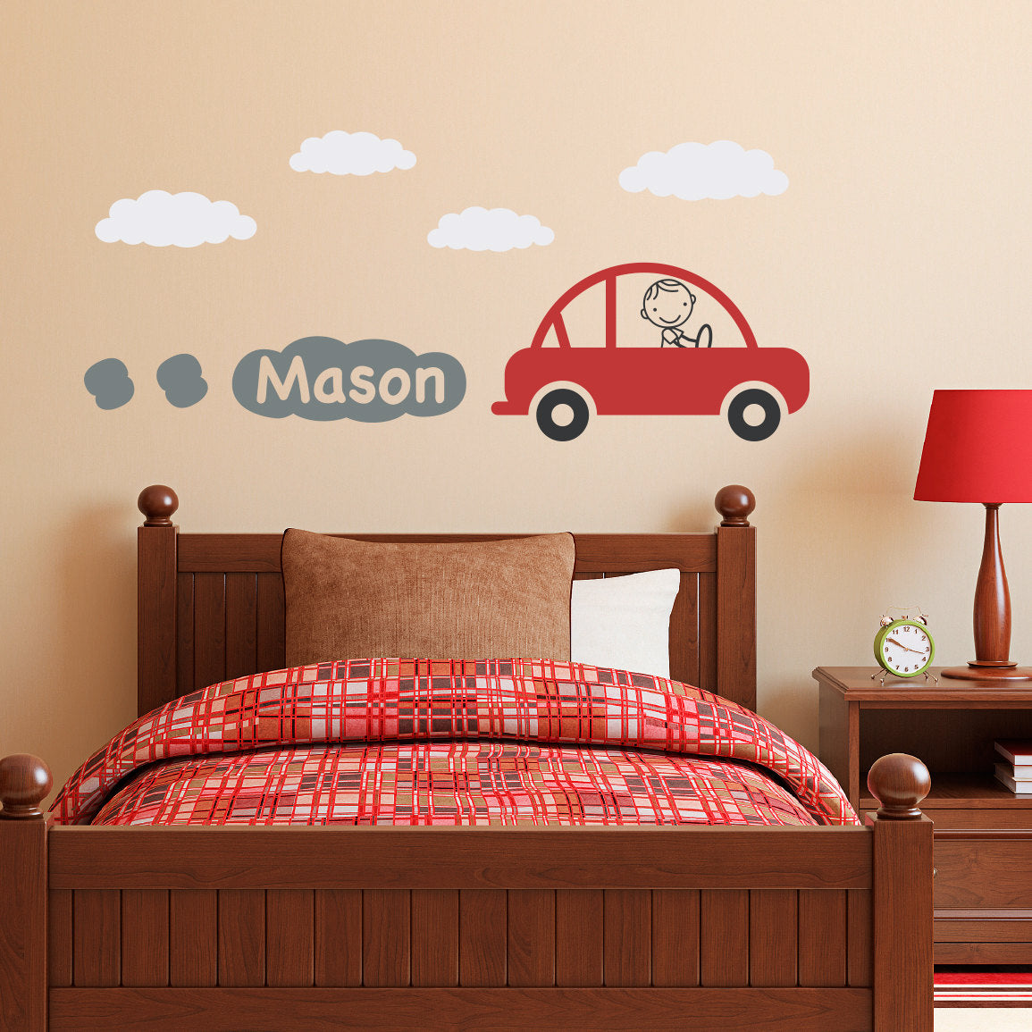 Personalized car decal with boys name boy bedroom wall sticker personalized car decal with boys name boy bedroom wall sticker vinyl wall decal children wall decals amipublicfo Images