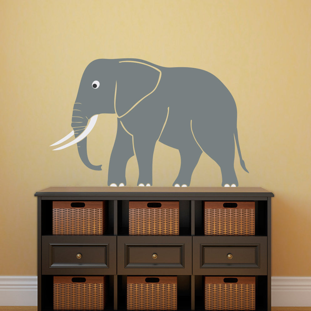 Cute Elephant Wall Decal