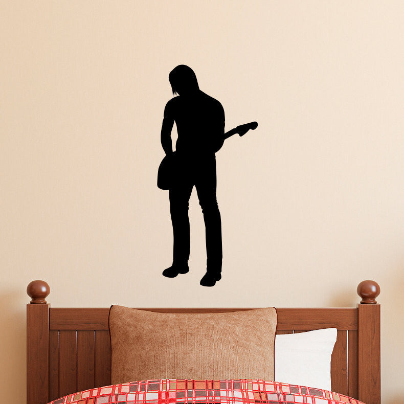 Rock and Roll Guitar Player 1 Wall Decal