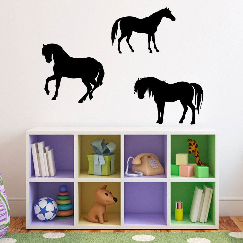 Horses Wall Decal - Set of 3