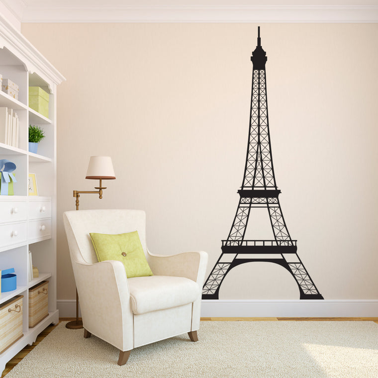 Eiffel Tower Wall Decal - 7 Foot High