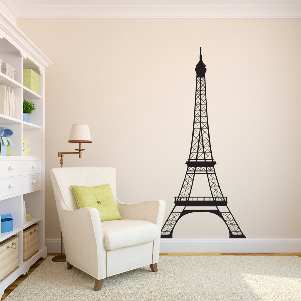 Eiffel Tower Wall Decal - Extra Large - 6 Foot High