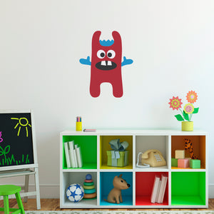 Monster Wall Decal Printed Silly Monster