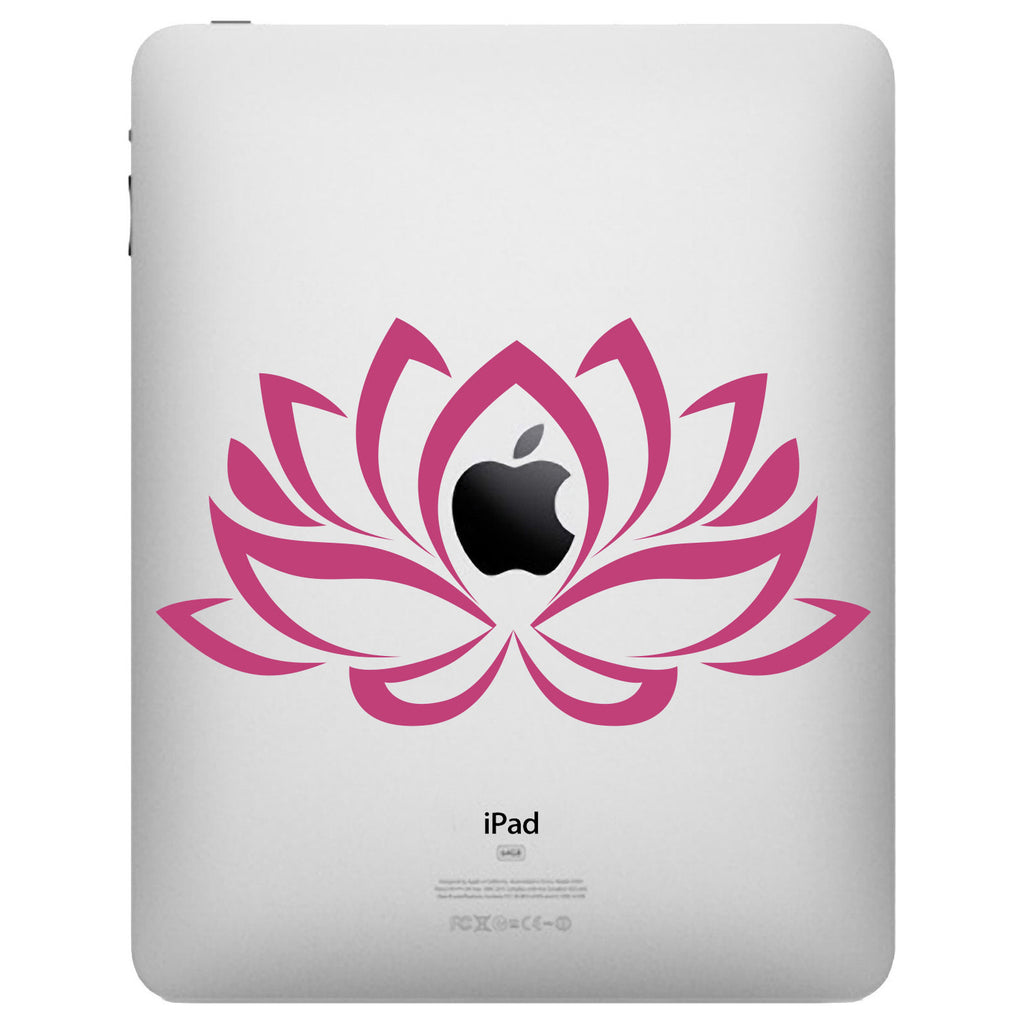 Lotus Flower iPad Decal - Flower Decal - Lotus Tablet Decal