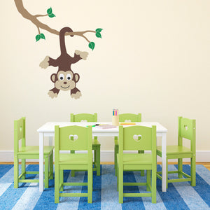 Monkey on Ceiling Children's Wall Decal