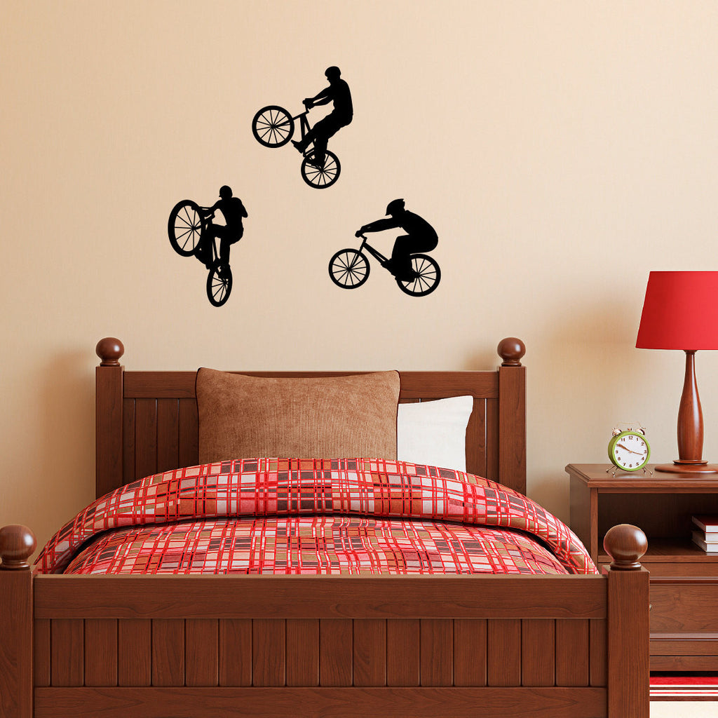 BMX Bike Wall Decal - Set of Three - Medium