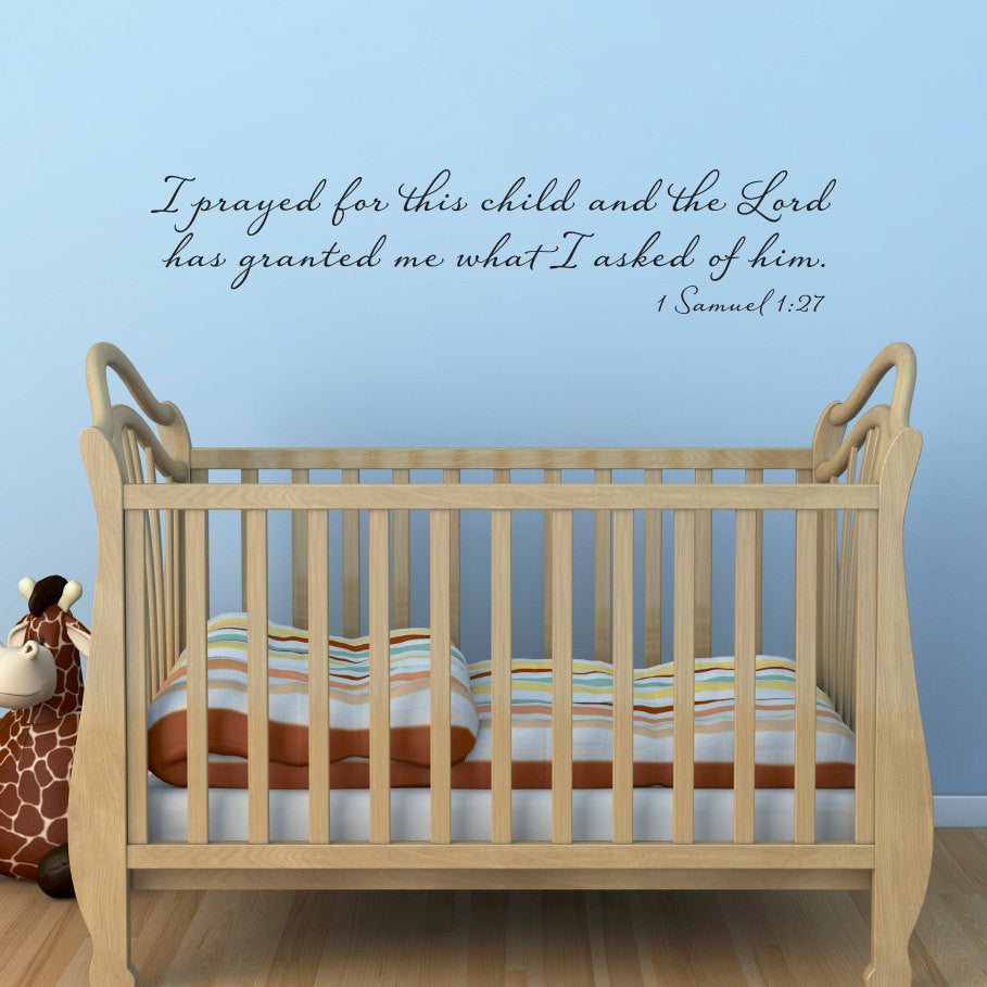 i prayed for this child 1 samuel 127 wall decal