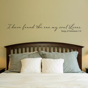 I Have Found the one My Soul Loves Extra Large Christian Bible Scripture Wall Decal