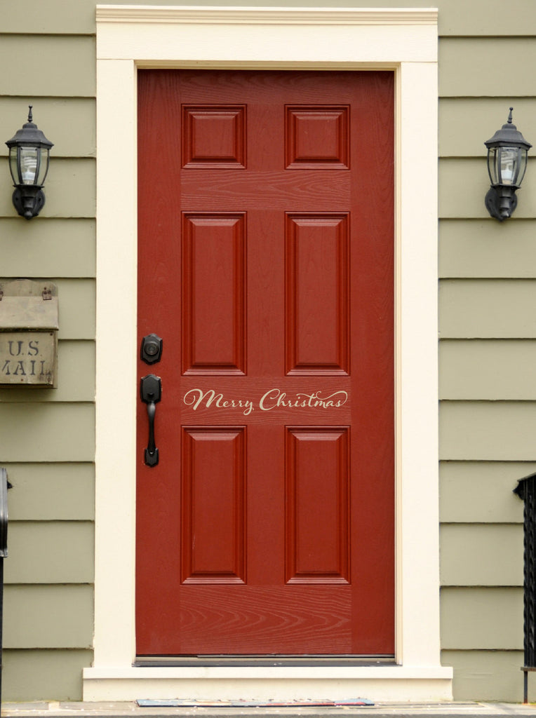 Merry Christmas Door Decal