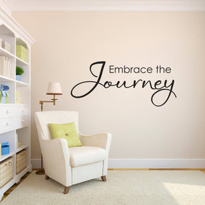 Embrace the Journey Large Wall Decal