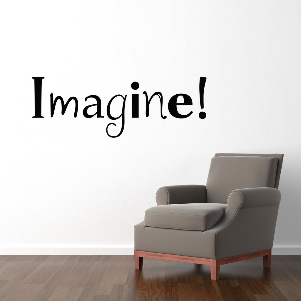 Imagine Decal - Inspirational Quote - Large - Craft Room or Art Studio Wall Decal