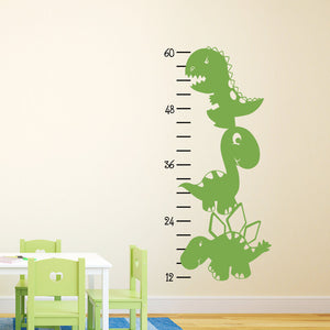 Dinosaur Growth Chart Wall Decal