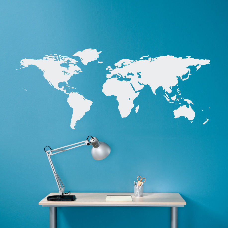 World map wall decal geography wall art map decal medium world map wall decal geography wall art map decal medium amipublicfo Images