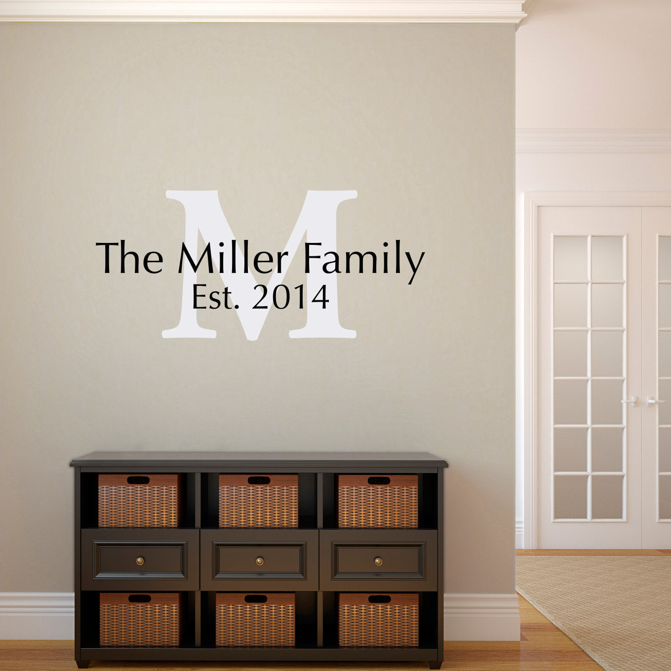 Initial U0026 Last Name Decal   Personalized Wall Decal With Established Date    Medium Wall Decal 2 Part 76