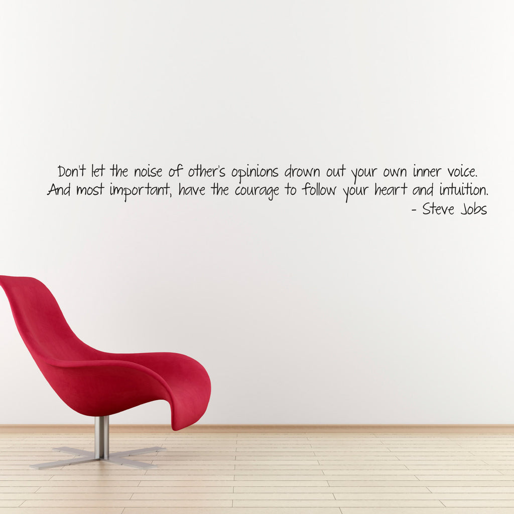 Steve Jobs Quote Wall Decal - Follow your Heart Decal - Large