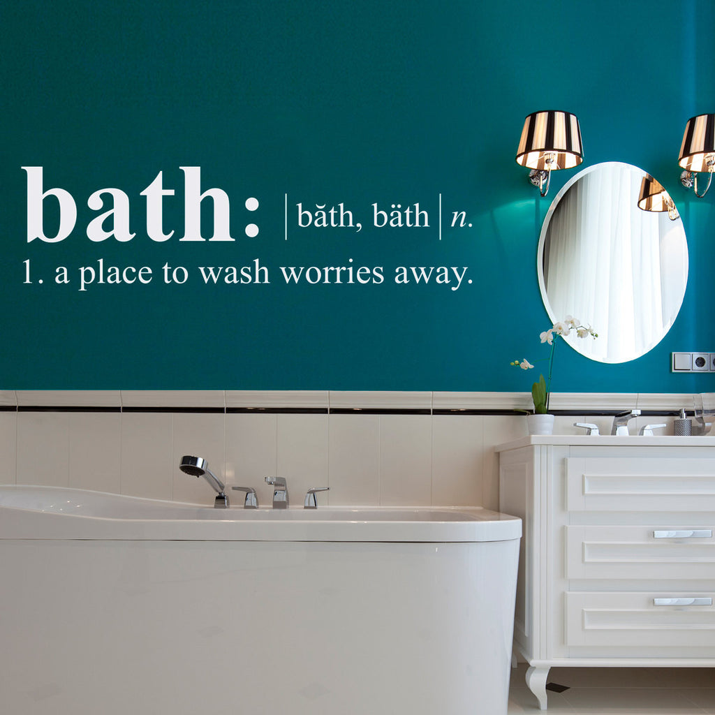 Bath Dictionary Definition Wall Decal - Large