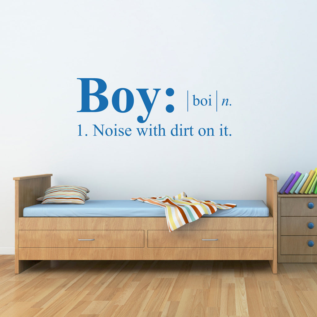Boy Dictionary Definition Wall Decal - Large