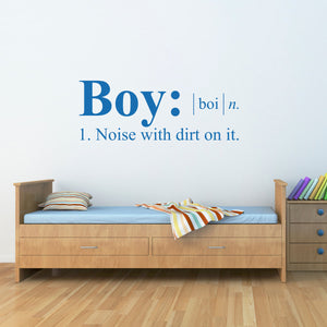 Boy Definition Wall Decal - Dictionary definition Decal - Boy Bedroom Wall Decal - Large