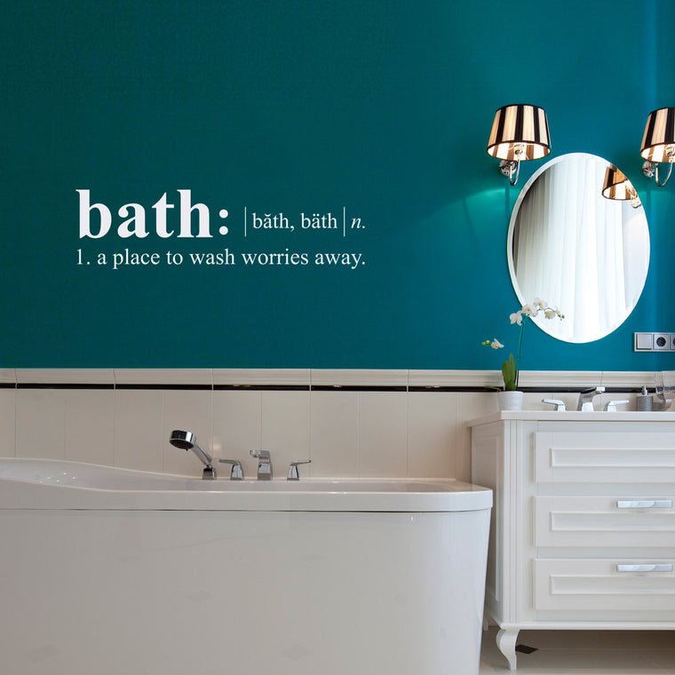 Bathroom Dictionary Definition Wall Decal - Medium