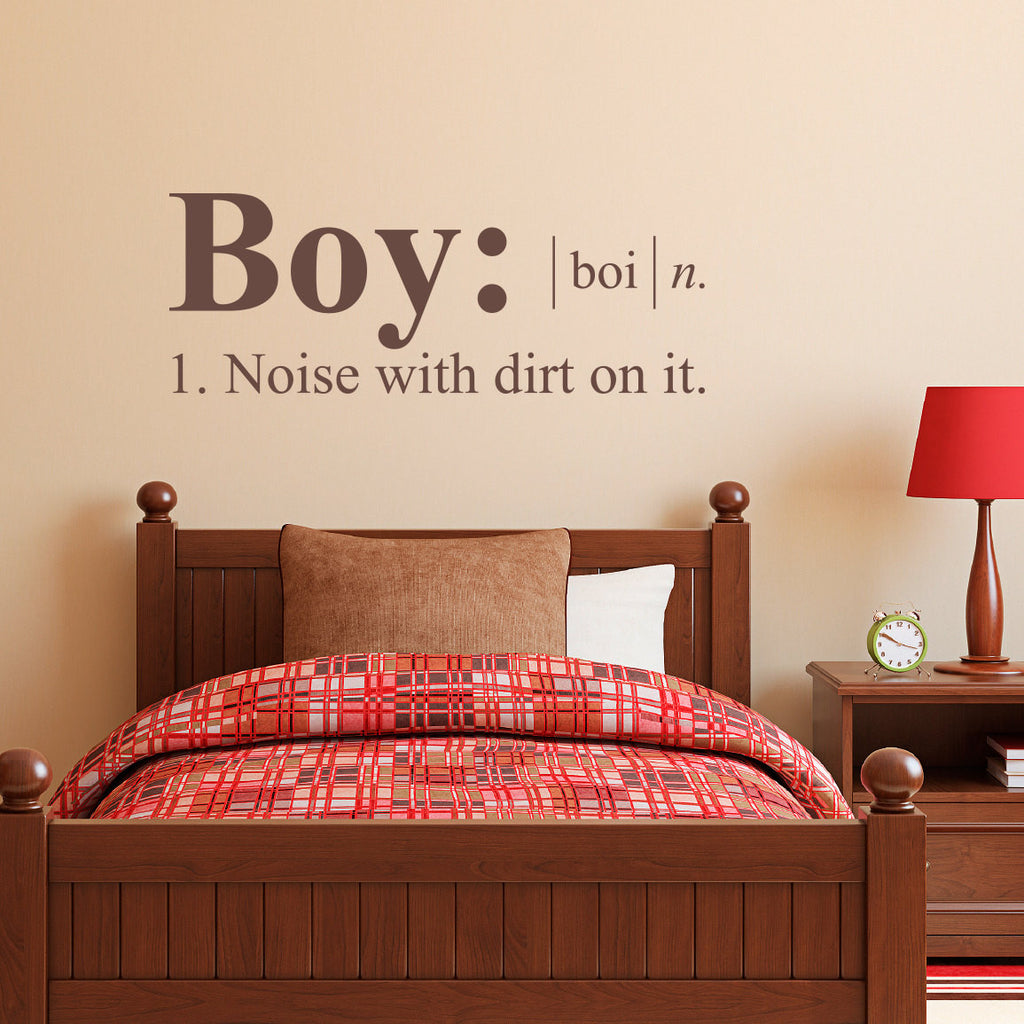 Boy Dictionary Definition Wall Decal - Medium