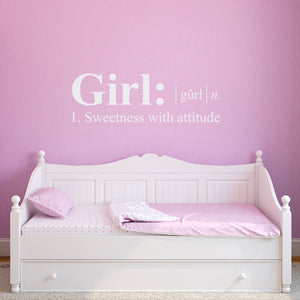 Girl Dictionary Definition Wall Decal