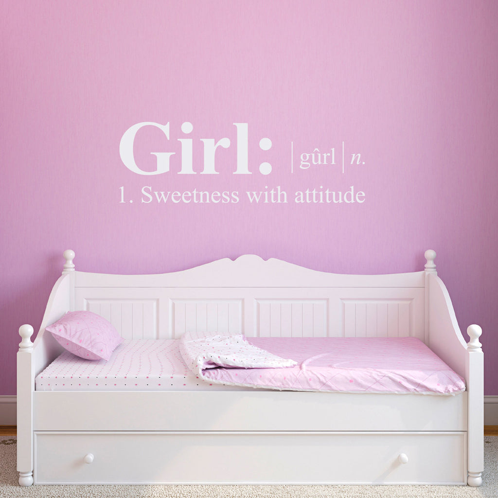 Girl Dictionary Definition Wall Decal - Large