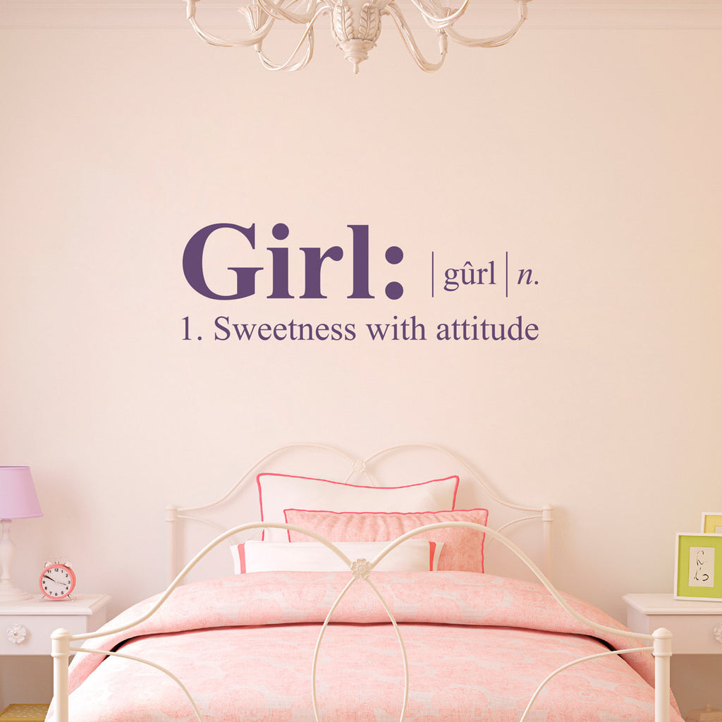 Girl Dictionary Definition Wall Decal - Medium