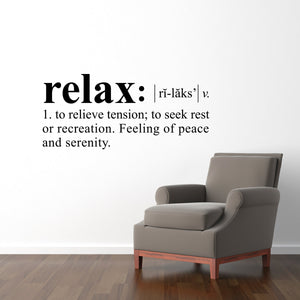 Relax Definition Large Wall Decal