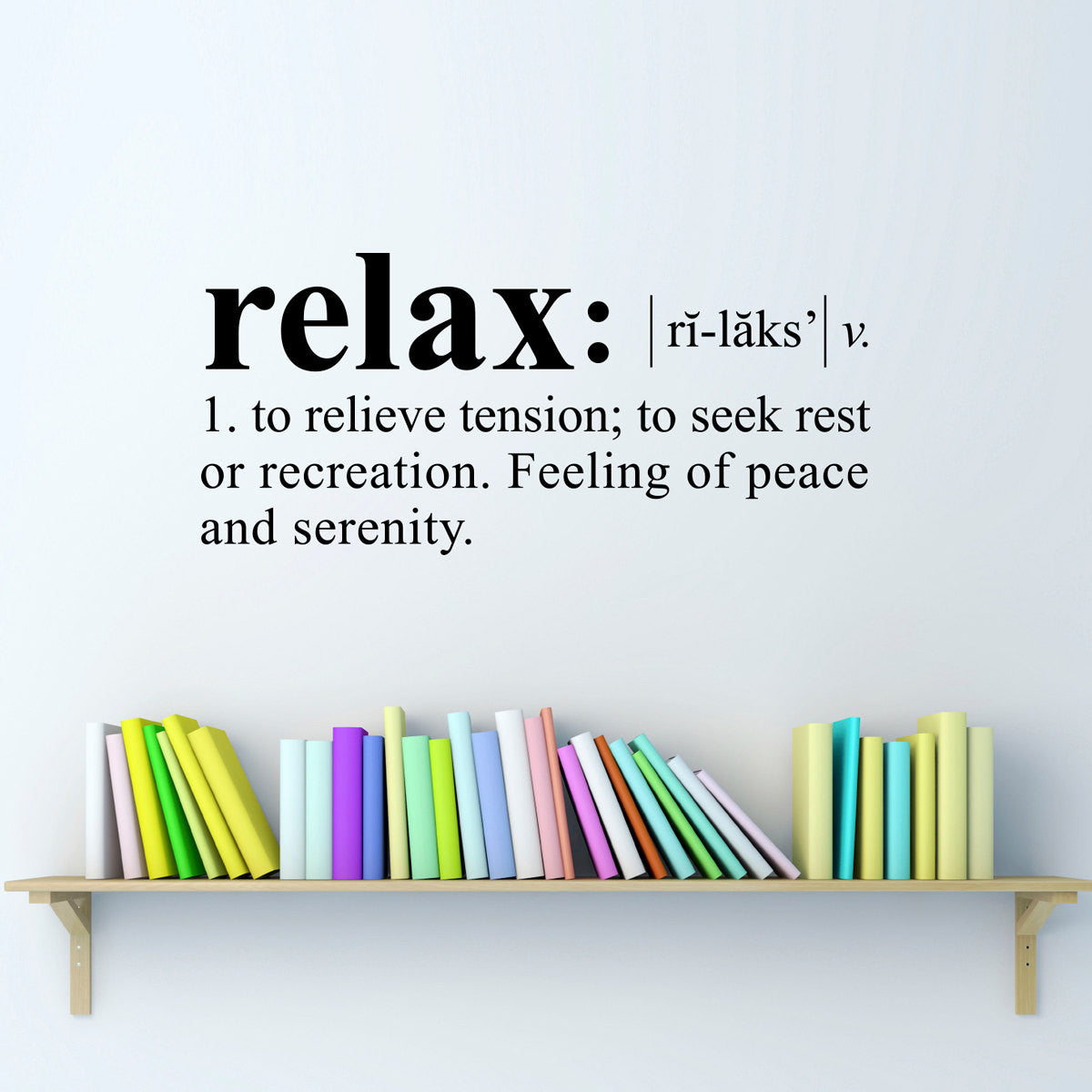 Quote Decals Tagged Relax Wall Sticker Stephen Edward Graphics - Wall decals relax