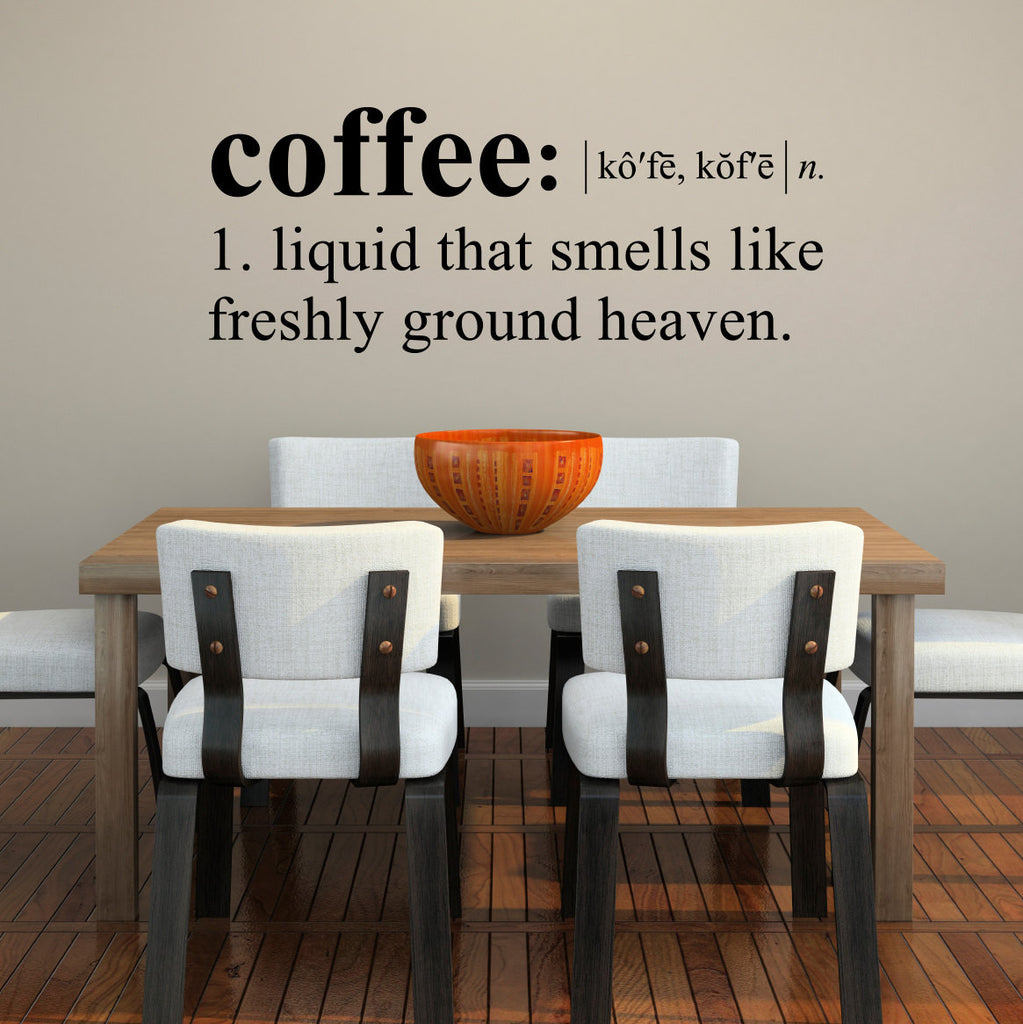 Coffee Dictionary Definition Wall Decal - Large