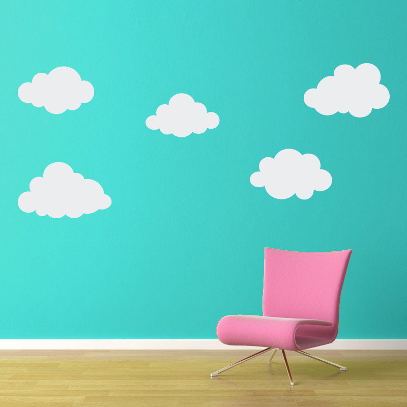 Set Of 10 Puffy Clouds Wall Decals