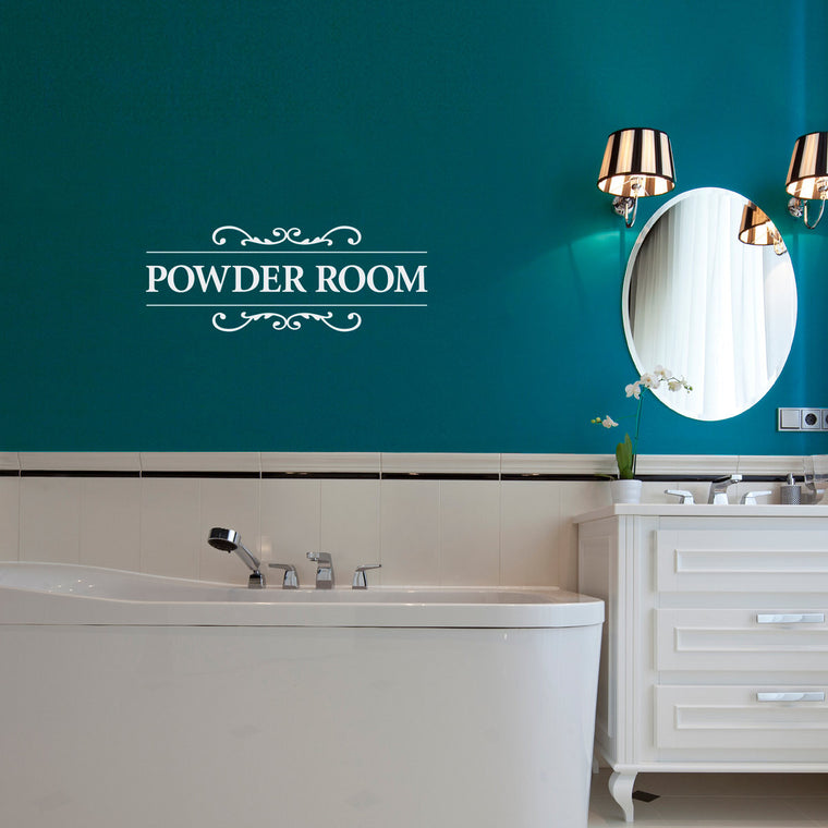 Powder Room Wall Decal - Bathroom Decal - Restroom Wall Decal - Medium