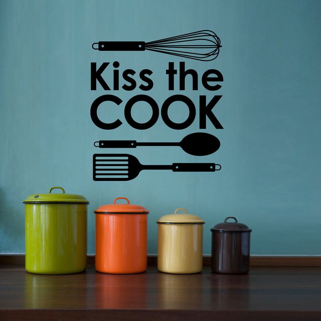 Kiss the Cook Wall Decal - Medium