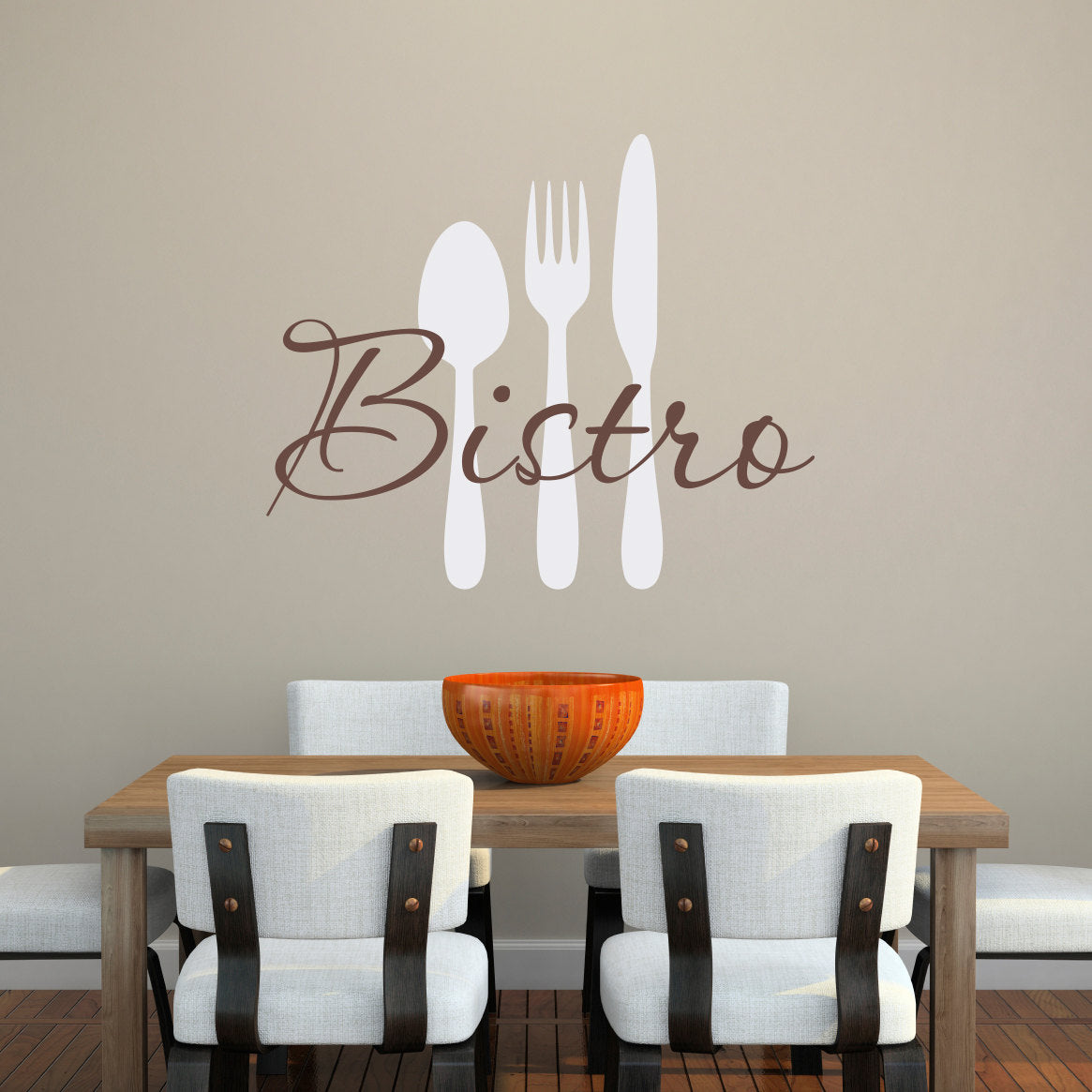Bistro And Utensils Large Kitchen Wall Decal Set
