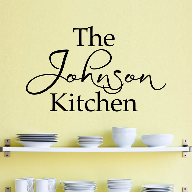 Personalized Name Kitchen Wall Decal - Custom Name Decal - Kitchen Wall Art - Large