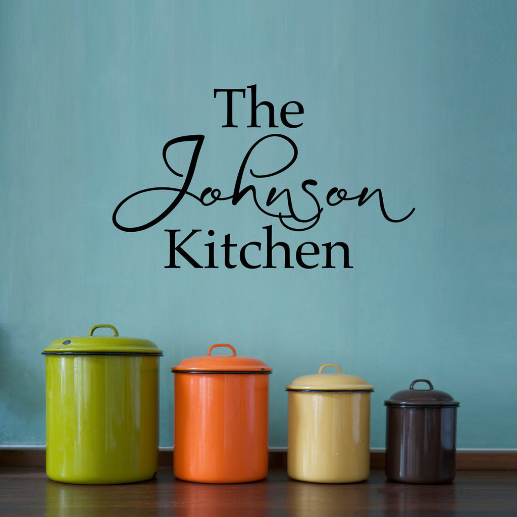 Personalized Kitchen Wall Decal - Medium
