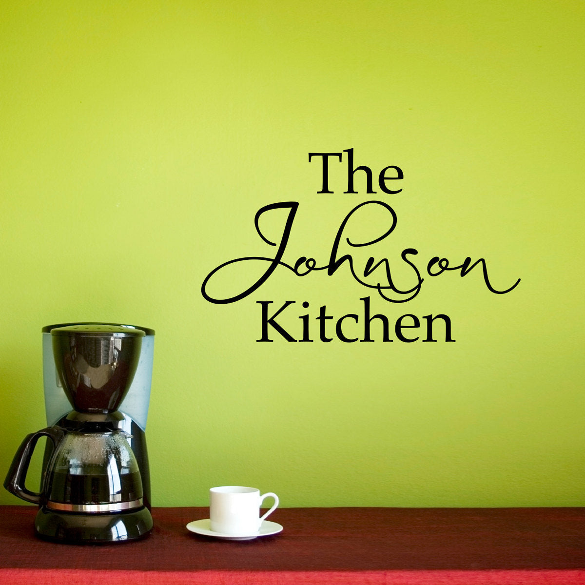Kitchen Wall Decal - Personalized Name Decal - Kitchen Wall Art ...