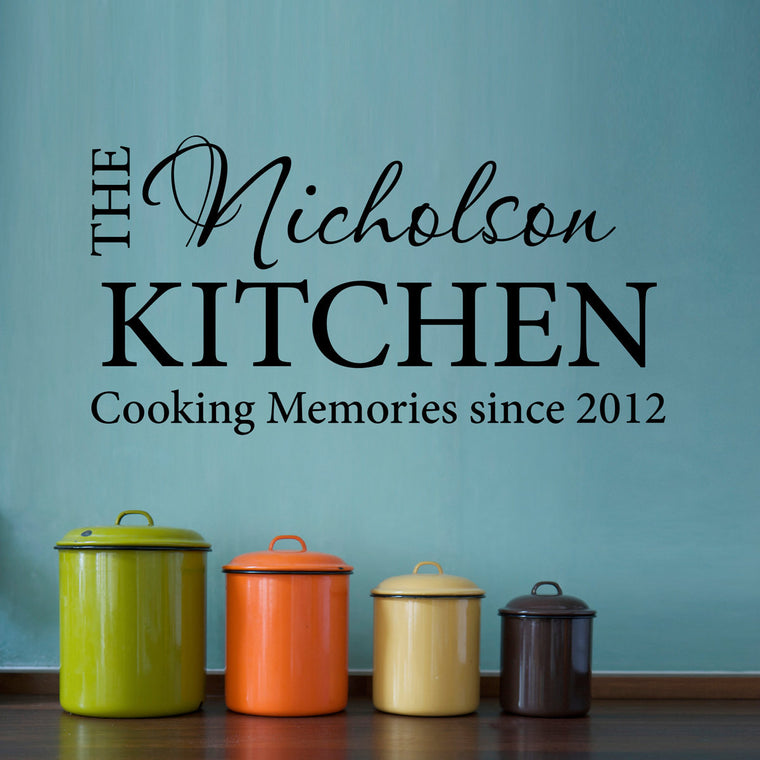 Cooking Memories Wall Decal - Medium