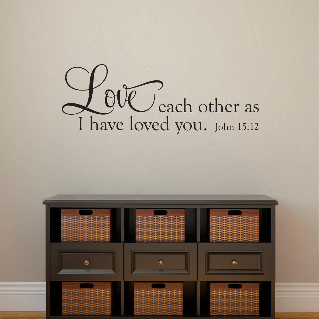love each other as i have loved you john wall decal horizontal medium