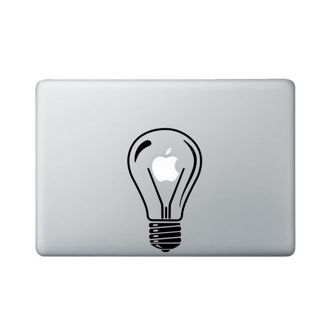 Lightbulb Macbook Decal - Bulb Laptop Decal - Apple Decal