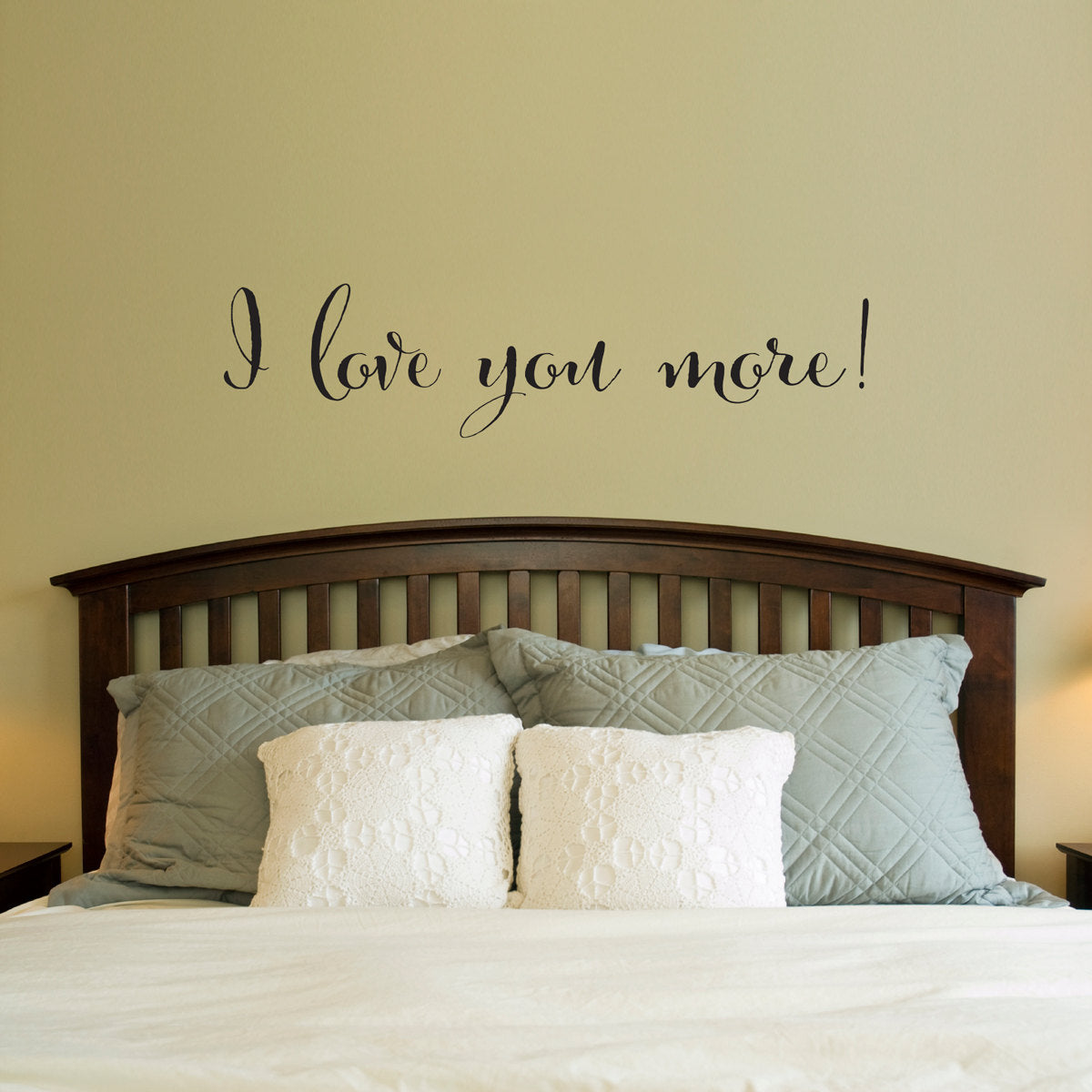 Love Wall Decal - I love you more Decal - Bedroom Wall Art - Love ...