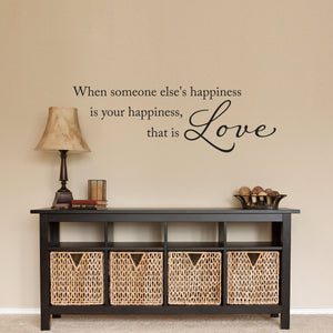 That is Love Medium Happiness Wall Decal Quote